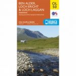 Explorer Map OL50 Ben Alder, Loch Ericht and Loch Laggan