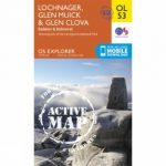 Active Explorer Map OL53 Lochnagar, Glen Muick and Glen Clova