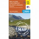 Active Explorer Map OL50 Ben Alder, Loch Ericht and Loch Laggan