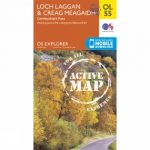 Active Explorer Map OL55 Loch Laggan and Creag Meagaidh