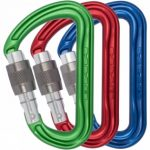 Shadow Keylock Screwgate Pack of 3 Colour Karabiners