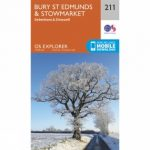 Explorer Map 211 Bury St Edmunds and Stowmarket