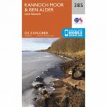 Explorer Map 385 Rannoch Moor and Ben Alder