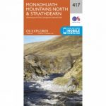 Explorer Map 417 Monadhliath Mountains North and Strathdearn
