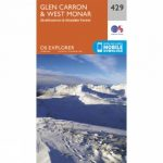 Explorer Map 429 Glen Carron and West Monar