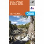 Explorer Map 440 Glen Cassley and Glen Oykel
