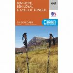 Explorer Map 447 Ben Hope, Ben Loyal and Kyle of Tongue