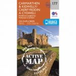 Active Explorer Map 177 Carmarthen and Kidwelly