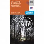 Active Explorer Map 182 St Albans and Hatfield