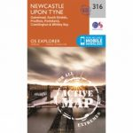 Active Explorer Map 316 Newcastle upon Tyne
