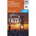 Active Explorer Map 349 Falkirk, Cumbernauld and Livingston