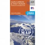 Active Explorer Map 429 Glen Carron and West Monar