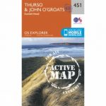 Active Explorer Map 451 Thurso and John o' Groats