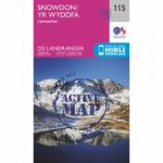 Active Landranger Map 115 Snowdon