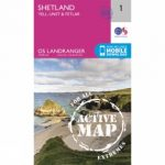 Active Landranger Map 01 Shetland – Yell, Unst and Fetlar
