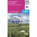 Active Landranger Map 141 Kettering and Corby