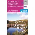 Active Landranger Map 147 Elan Valley and Builth Wells
