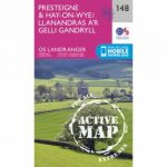 Active Landranger Map 148 Presteigne and Hay-on-Wye