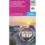 Active Landranger Map 156 Saxmundham, Aldeburgh and Southwold