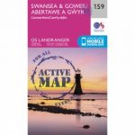 Active Landranger Map 159 Swansea and Gower