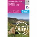Active Landranger Map 160 Brecon Beacons