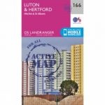 Active Landranger Map 166 Luton and Hertford