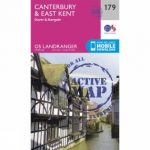 Active Landranger Map 179 Canterbury and East Kent