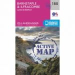 Active Landranger Map 180 Barnstaple and Ilfracombe