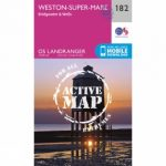 Active Landranger Map 182 Weston-super-Mare