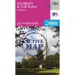 Active Landranger Map 184 Salisbury and The Plain