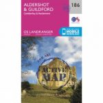 Active Landranger Map 186 Aldershot and Guildford