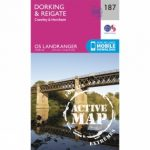 Active Landranger Map 187 Dorking and Reigate