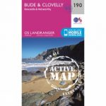 Active Landranger Map 190 Bude and Clovelly