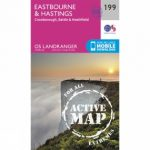 Active Landranger Map 199 Eastbourne and Hastings
