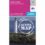 Active Landranger Map 02 Shetland – Sullom Voe and Whalsay