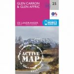 Active Landranger Map 25 Glen Carron and Glen Affric