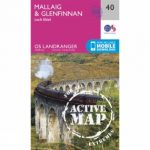 Active Landranger Map 40 Mallaig and Glenfinnan