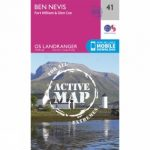 Active Landranger Map 41 Ben Nevis, Fort William and Glen Coe