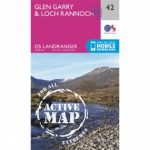 Active Landranger Map 42 Glen Garry and Loch Rannoch