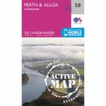 Active Landranger Map 58 Perth and Alloa