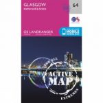 Active Landranger Map 64 Glasgow