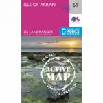 Active Landranger Map 69 Isle of Arran