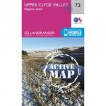Active Landranger Map 72 Upper Clyde Valley