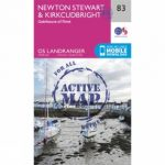 Active Landranger Map 83 Newton Stewart and Kirkcudbright