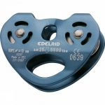 Rail double pulley
